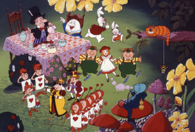 A scene from Fushigi no Kuni no Alice