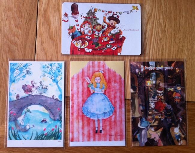 Four postcards