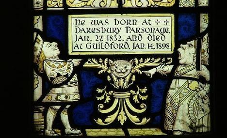 Commemorative Lewis Carroll Window at Daresbury